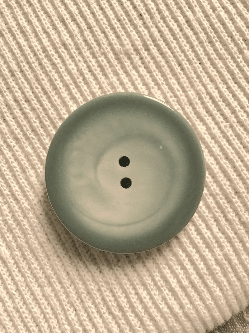 """Large 2 Hole 1-1/2"""" (39mm) 60L Moss Sage Italian Vintage Buttons #556"""