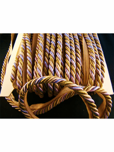 Lavender Beige Olive Green Made in Italy Twisted Cord with Lip LT-138