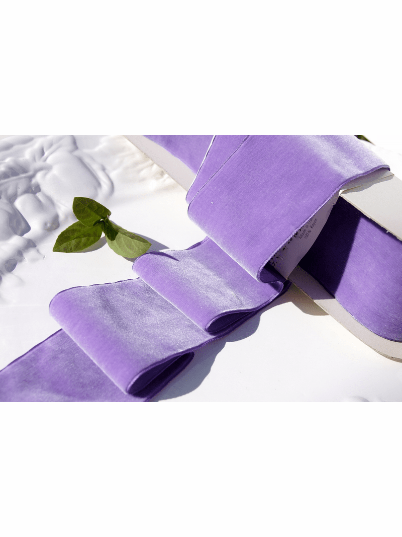 Lavender French Wide Velvet Ribbon 72mm