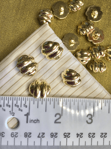 "Metallic Fashion Gold Button 5/8"" x 11/16"" Shank Gold Buttons #755"