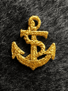Metallic Gold Embroidery Vintage Anchor Iron-on Decorative Patch #5001