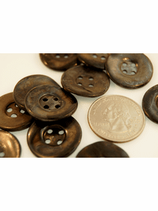"""Mother of Pearl Buttons Vintage 4 Holes 7/8"""" inch (6 pcs)"""