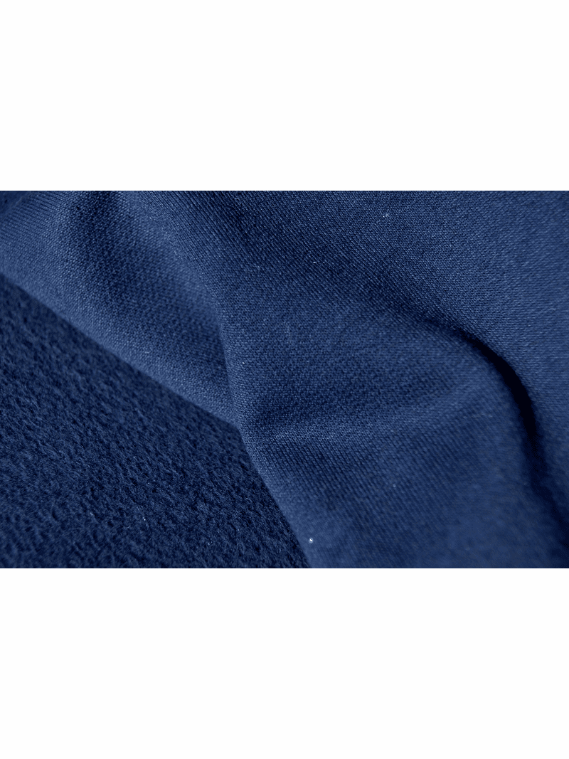Navy Cotton Sweatshirt Fleece Fabric # UU-374
