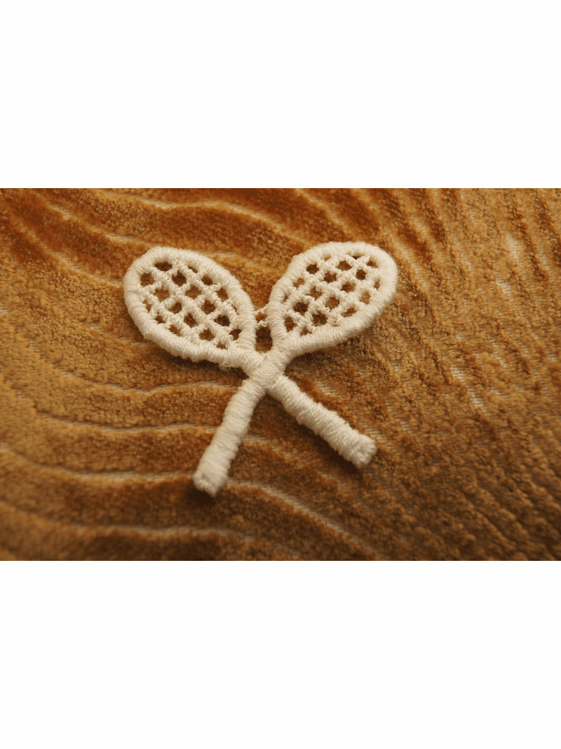 Off White Tennis Double Rackets Applique # appliques-1045
