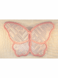 Pink Iridescent Sequins Iron-On Applique #appliques-33