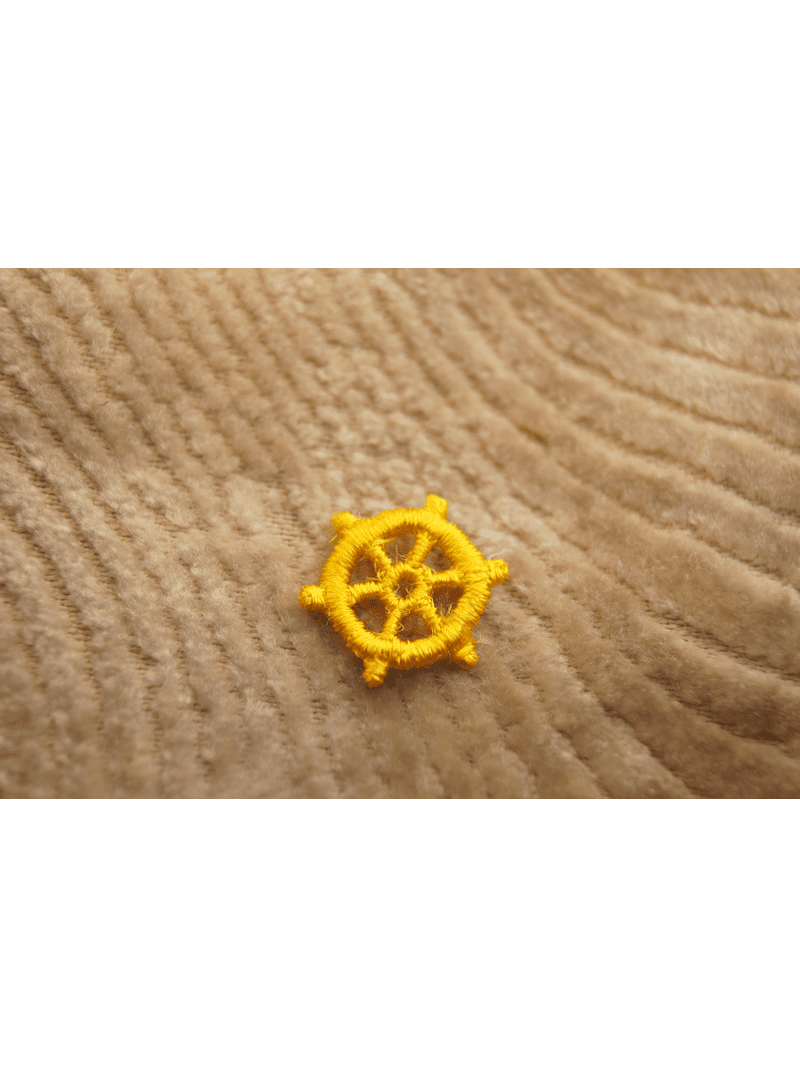 Pirate Gold Ship Wheel Applique # appliques-1040