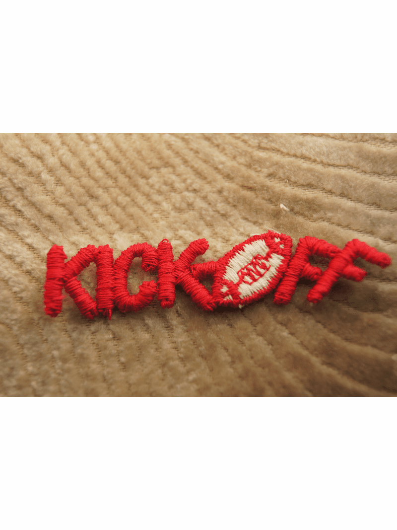 Red Kick Off Football Applique # appliques-1028
