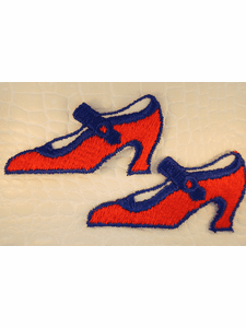 Red Navy High Heels Shoes Iron-On Applique #appliques-23