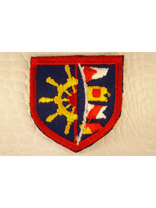 Red White Navy Yellow Ship Wheel Flags Shield Iron-On Patches #appliques-15