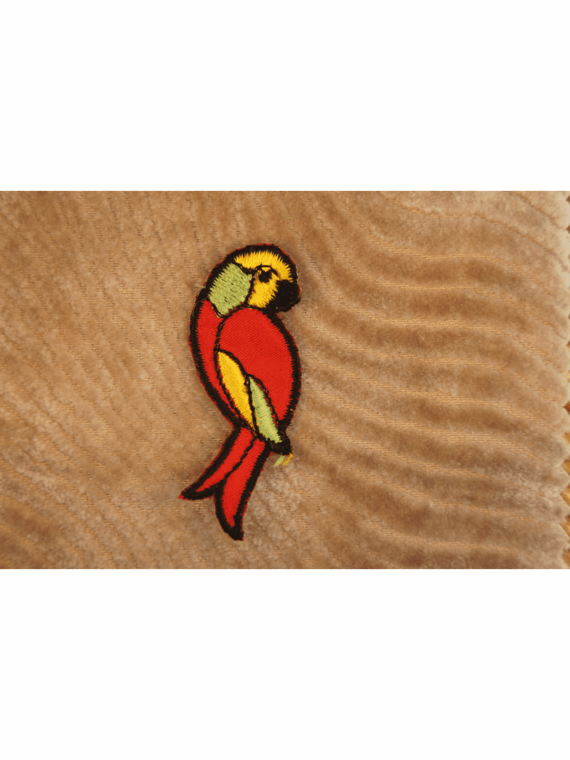 Red Yellow Green Colorful Parrot Iron On Applique # appliques-1072