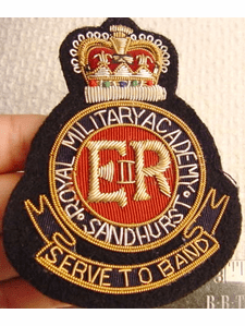 Royal Military Academy Sandhurst Vintage Bullion Crest Patches