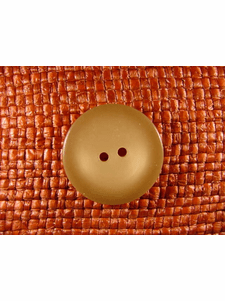 SAMPLE SWATCH - 2 holes Designer Buttons 1 1/8 inches Tan #bag-359