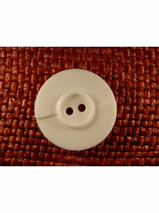 SAMPLE SWATCH - 2 holes Italian Buttons 1 1/4 inches White #bag-339