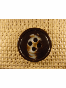 SAMPLE SWATCH - 4 holes Designer Buttons 1 1/4 inches Brown #bag-138