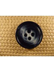 SAMPLE SWATCH - 4 holes Designer Buttons 1 1/4 inches Navy #bag-137