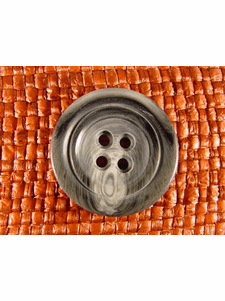 SAMPLE SWATCH - 4 holes Designer Buttons 1 1/8 inch Marble Grey #bag-60