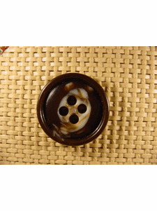 SAMPLE SWATCH - 4 holes Designer Buttons 1 1/8 inches Brown #bag-261