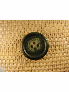 SAMPLE SWATCH - 4 holes Italian Buttons 1 inch Green #bag-145