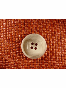 SAMPLE SWATCH - 4 holes Italian Buttons 1 inch White #bag-214