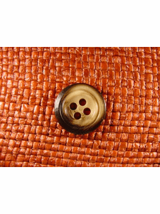 SAMPLE SWATCH - 4 holes Italian Buttons 13/16 inch Brown #bag-335