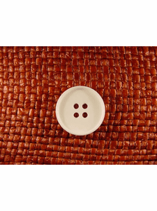 SAMPLE SWATCH - 4 holes Italian Buttons 13/16 inch Off White #bag-373