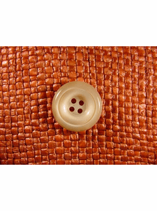 SAMPLE SWATCH - 4 holes Italian Buttons 3/4 inch Khaki Tan #bag-196