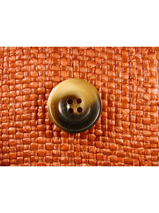 SAMPLE SWATCH - 4 holes Italian Buttons 7/8 inch Brown #bag-160