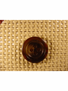 SAMPLE SWATCH - 4 holes Italian Buttons 7/8 inch Dark Brown #bag-391