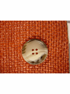SAMPLE SWATCH - Designer 4 hole Buttons from Italy 1 1/8 inches Earthtone #bag-301