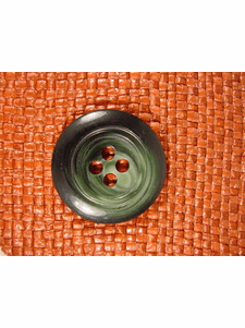 SAMPLE SWATCH - Designer 4 hole Buttons from Italy 1 3/8 inches Forest Green #bag-292