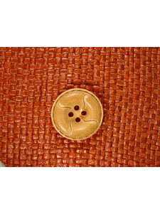 SAMPLE SWATCH - Designer 4 hole Buttons from Japan 1 inch Light Brown #bag-323