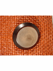 SAMPLE SWATCH - Designer Shank Buttons 1 1/2 inches Chocolate Brown #bag-304