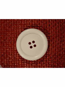 SAMPLE SWATCH - Italian 4 hole Buttons 1 1/2 inches White #bag-321
