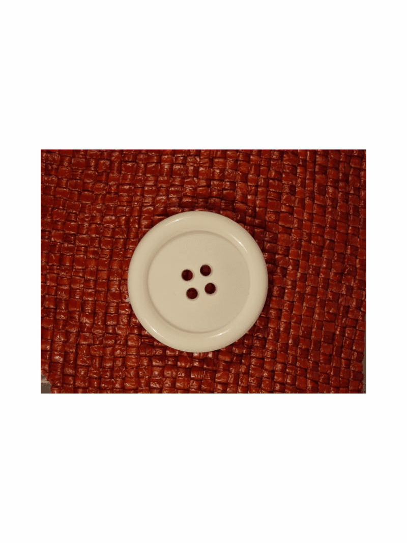 SAMPLE SWATCH - Italian 4 hole Buttons 1 3/8 inches Off White #bag-328