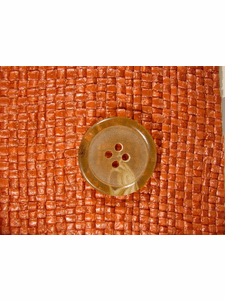 SAMPLE SWATCH - Italian 4 hole Buttons 1 inch Golden Wheat #bag-313