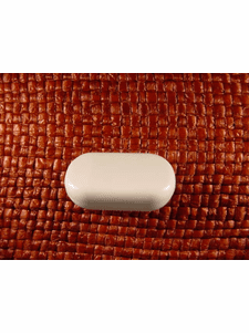 SAMPLE SWATCH - Shank Buttons 1 1/8 inches X 5/8 inch White #bag-374