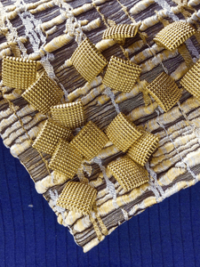 """Square Embossed Vintage Shank 5/8"""" (15mm) 24L Metallic Gold Buttons #1008"""