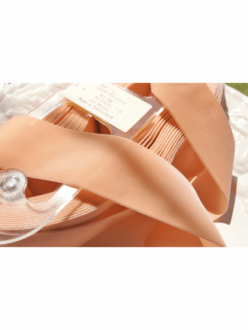 Swiss Velvet Ribbon Peach 50mm