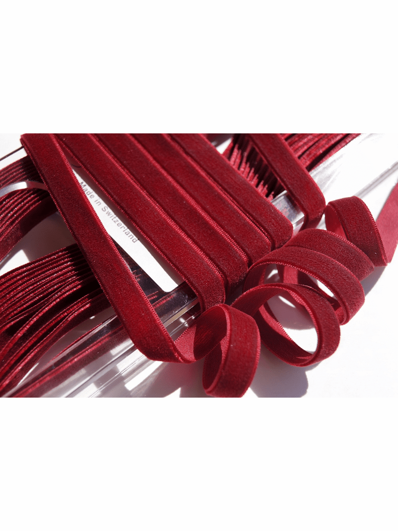 Swiss Wine Ribbon Velvet Trim 9mm