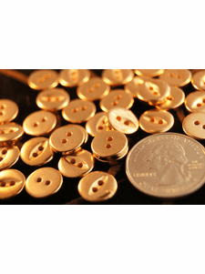 """Vintage 2 Hole Gold Shirt Buttons 1/2"""" inch"""