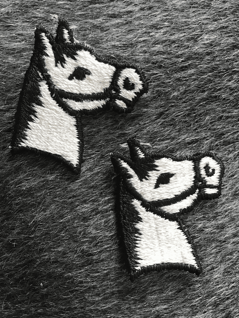Vintage Black White Embroidery Horse Decorative Sewing Patch #5068