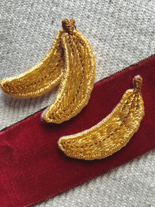 Vintage Embroidered Banana Iron-on Applique Patches #5020