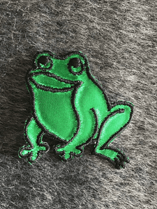 Vintage Embroidered Iron-on Frog Decorative Patches #5043