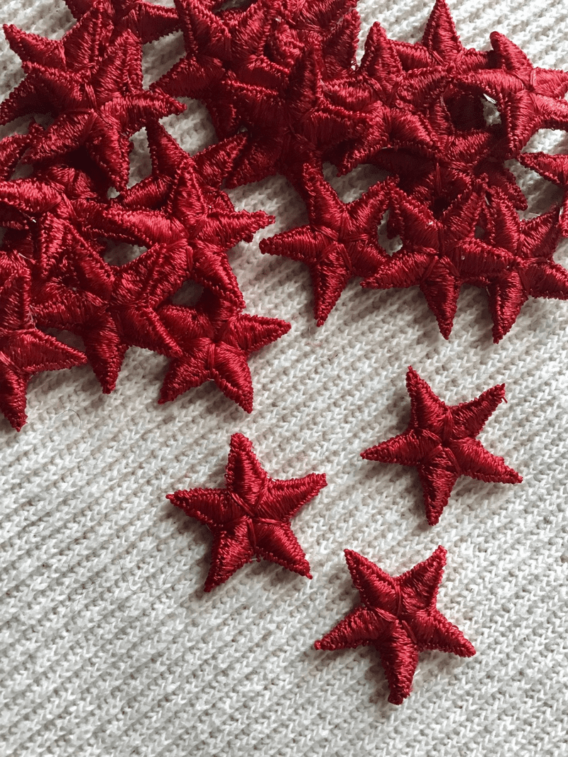 Vintage Embroidered Red Star Decorative Patch #5016