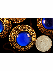 """Vintage Gold Royal Dome Shank Coat Buttons 1 1/2"""" inch (6 pcs)"""