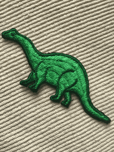 Vintage Green Dinosaur Embroidery Decorative Applique Iron-on Patches #5078