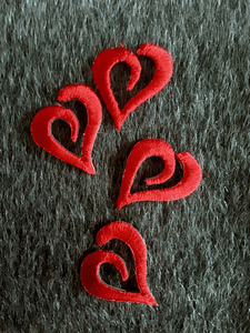 Vintage Iron-on Red Heart Embroidery Decorative Love Patch #5056