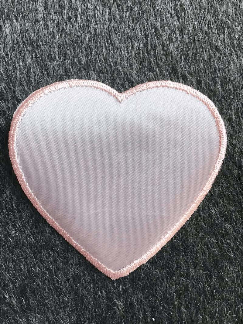 Vintage Light Pink Large Heart Decorative Embroidery Applique Patches #5091