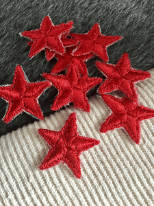 Vintage Red Star Iron-on Embroidery Applique Patches #5101