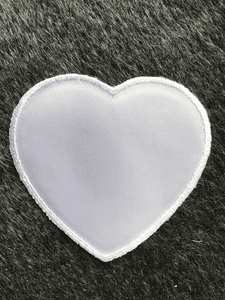 Vintage White Large Heart Decorative Embroidery Applique Patches #5094